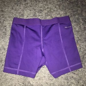 Nike Shorts - Purple Nike Pro Compression Shorts